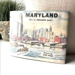 🌸MARYLAND Bernadine Bailey book of Maryland 1955